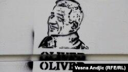 Grafit u Beogradu podseća na ubijenog kosovskog političara Olivera Ivanovića