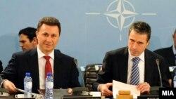 Премиерот Никола Груевски на средба со генералниот секретар на НАТО Андерс Фог Расмусен во Брисел на 25 јануари 2012 година