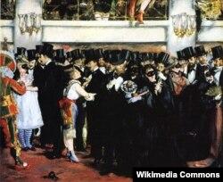 """Эдуард Мане. """"Бал-маскарад в парижской Опере"""". 1873"""