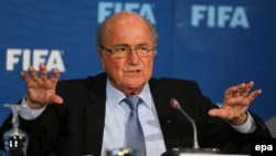 "FIFA President Joseph ""Sepp"" Blatter canceled a speech on May 28 at a soccer medical conference."