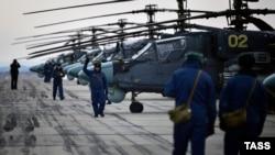 Российские боевые вертолеты Ка-52. Иллюстративное фото.