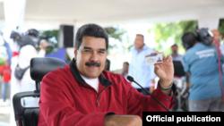 Николас Мадуро, президент Венесуэлы, переизбранный на очередной срок после выборов, итоги которых не признали ЕС и США.