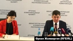 Елжан Біртанов, Қазақстан денсаулық сақтау министрі. Астана, 4 маусым 2018 жыл.