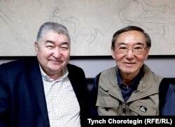 Академик Б. Көмөков (оңдо) жана Т.Чоротегин. Бишкек. 26.11.2019.