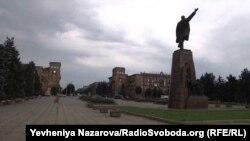 Вид з площі Леніна на проспект Леніна у Запоріжжі