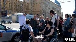 Участники акции в поддержку инвалидов и не подозревали, что навлекут на себя гнев самих инвалидов