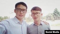 Пропавшие студенты Тургунаалы Турсунаалы уулу (справа) и Табылды Муратбеков. 14 мая 2019 года.