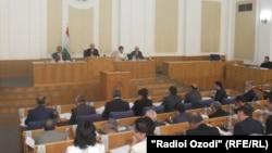 Сессия парламента Таджикистана. Иллюстративное фото.