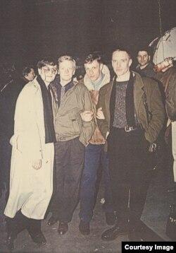 Участники первого московского рэйва - Gagarin Party, декабрь 1991 г.