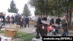 Belarus - Funeral of general Valer Fralou in Horadnya, 12Nov2014