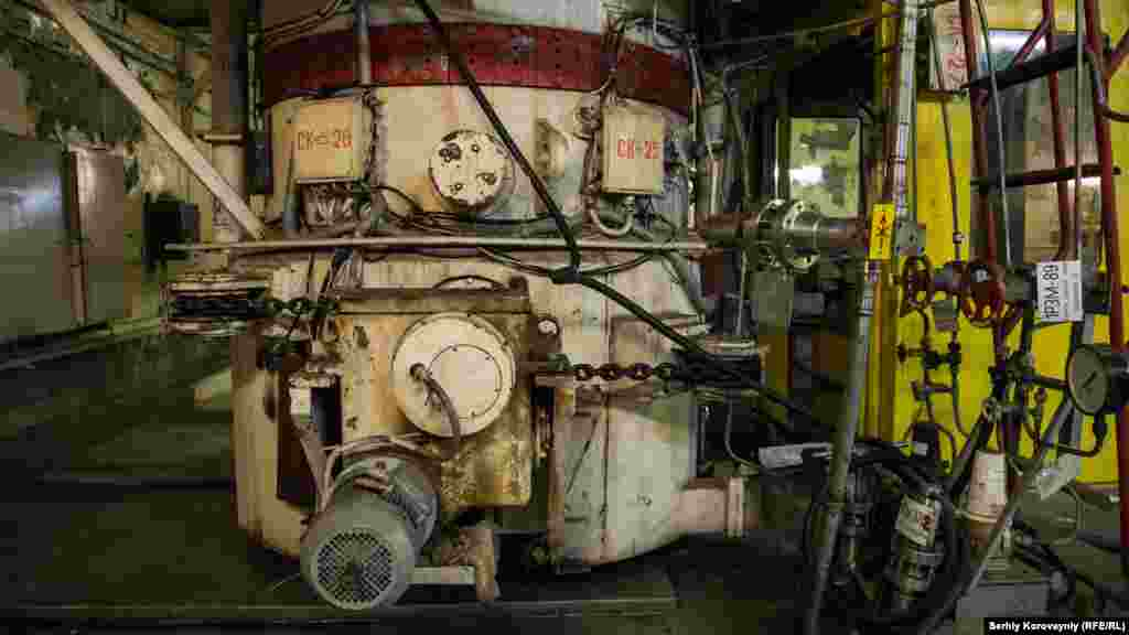 A pump in the turbine hall of Chernobyl's Unit 4.