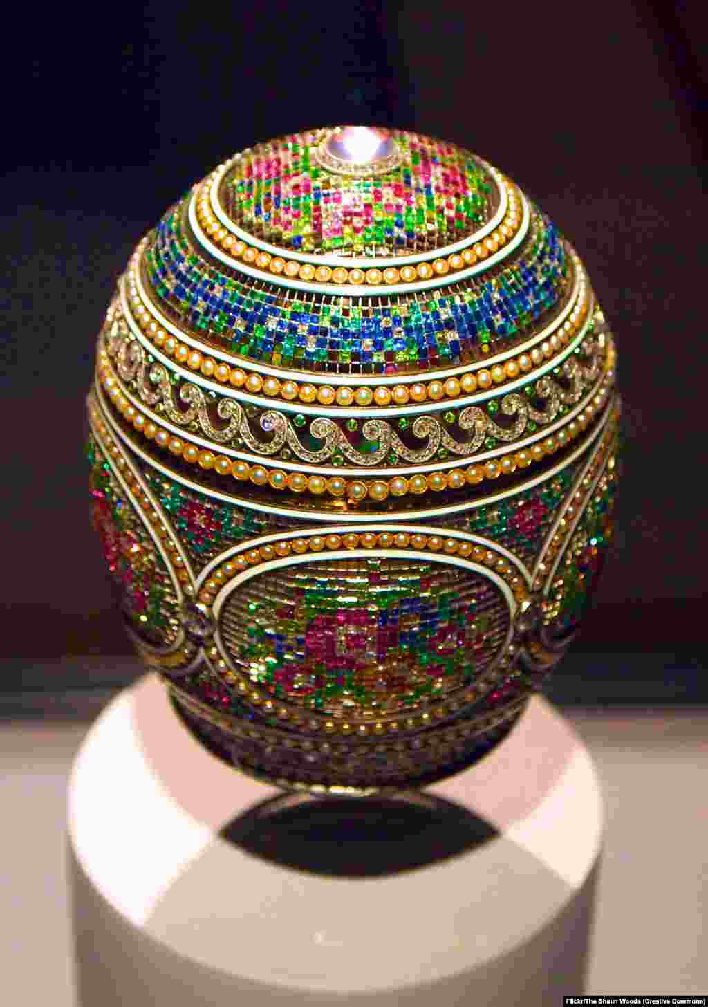 The Mosaic Egg. In Russia, it is tradition to gift loved ones decorated eggshells during Easter as a symbol of rebirth and fertility. The tsars and their chosen jeweler raised this Orthodox Christian tradition to a spectacular art form. But at the turn of the century, as diamonds twinkled in the royal drawing rooms, Russia was sliding into turmoil.