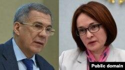 Рөстәм Миңнеханов һәм Эльвира Нәбиуллина