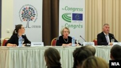 Прес-конференција на набљудувачите на ОБСЕ и на Конгресот на локални регионални власти на Советот на Европа