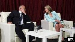 Илустрација - Бугарската министерка за надворешни работи Екатерина Захариева и бугарскиот премиер Бојко Борисов