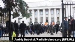 Мітинг чорнобильців біля Верховної Ради України, Київ, 1 листопада 2011 року