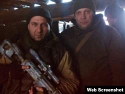 Італійський бойовик Массіміліано Каваллері з ватажком угруповання «ДНР» Олександром Захарченком