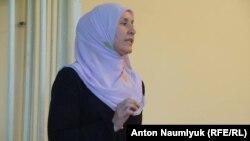 Защитница Наримана Мемедеминова Лиля Кораблева на заседании суда