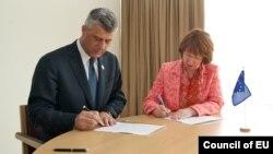 Kryeministri Hashim Thaçi dhe baronesha Catherine Ashton