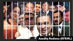 Политические заключенные в Азербайджане - имитация selfie