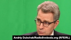 The U.S. ambassador to Ukraine, Geoffrey Pyatt, speaking to RFE/RL in Kyiv