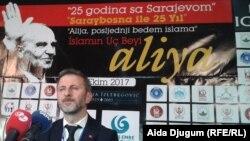 Producent Omer Erdogan na pres-konferenciji u Sarajevu