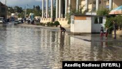 Sabunçu rayonunda yağışdan sonra