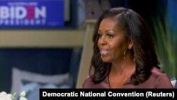 Michelle Obama gjatë fjalimit në Konventën e Demokratëve, 17 gusht