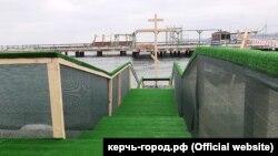 Оборудованное место для крещенских купаний в Керчи