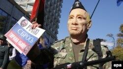 Акция протеста в Киеве, октябрь 2014 года