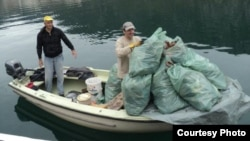 Akcija čišćenja Bokokotorskog zaliva, FOTO: K.S.R. Zubatac