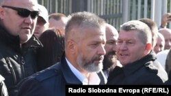 Former Bosnian Army commander for Srebrenica Naser Oric after being acquitted by a Bosnian court in October