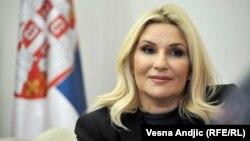 Віце-прем'єр-міністр Сербії Зорана Михайлович