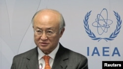"IAEA Director-General Yukiya Amano earlier said he was ""unable to report any progress"" on getting Iran to cooperate on answering questions about the possible military dimensions of its nuclear program."