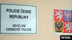 تابلوی پلیس جمهوری چک.