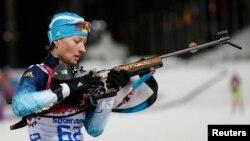 Українська біатлоністка Віта Семеренко, архівне фото