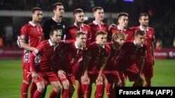 Echipa R.Moldova la meciul de calificare cu Franța pentru Euro 2020, Chisinau, 22 martie, 2019