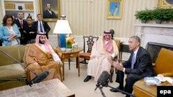 دیدار اوباما با ولیعهد سعودی و جانشینش در بهار سال ۹۴