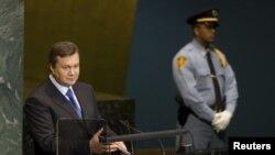 Віктор Янукович виступає на Генеральній асамблеї ООН, Нью-Йорк, 22 вересня 2010 року