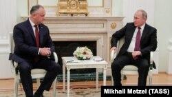 Întâlnirea președinților Igor Dodon și Vladimir Putin de la Moscova, de pe 31 octombrie 2018