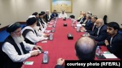 Afghan and Taliban negotiating teams met in Qatar on July 18.