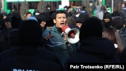 Kazahstanska policija opkolila prosvjednike, Almaty (28. veljače)
