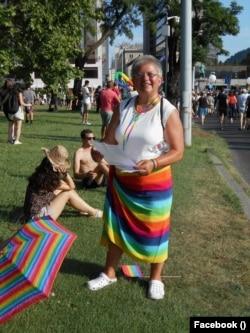 Kis Márti a 2019-es budapesti Pride-felvonuláson