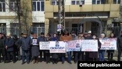 Эмир Чукуевдин тарапташтарынын митинги. 2021-жыл. 18-март. Бишкек.