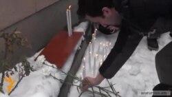 Բողոքի ակցիա Հայաստանում Ուկրաինայի դեսպանատան առջև
