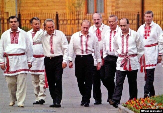 Кіраўнікі краінаў СНД у Сілічах, 2006 год
