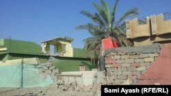 آثار قصف في محيط ناحية منصورية الجبل