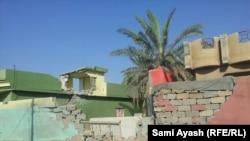 أضرار في قرية شروين في ديالى