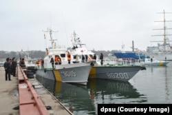 Прикордонні кораблі, що прийшли до Одеси з Криму. Березень 2014 року. Фото Регіонального управління Морської охорони ДПСУ