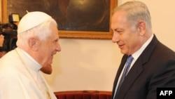 پاپ در چهارمين روز سفر خود در شهر ناصره در اسرائیل با نخست وزير اسرائيل ديدار کرد